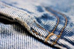 близкая джинсовая ткань вверх Стоковое Изображение