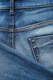 близкая джинсовая ткань ткани вверх Стоковое Изображение