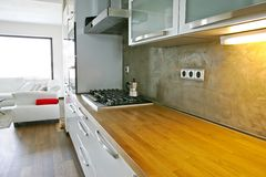 близкая кухня вверх Стоковые Фотографии RF
