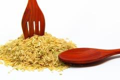 близкая ложка риса вверх Стоковые Изображения