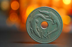 близкая монетка вверх Стоковое Фото