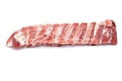 близкая нервюра свинины вверх стоковое изображение rf