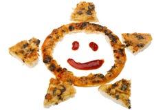 близкая пицца вверх по белизне стоковое изображение