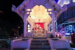 Близкая поднимающая вверх съемка дворца Ganesha на ЧИАНГМАЕ, Таиланде стоковая фотография rf