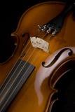 близкая скрипка Стоковое Изображение