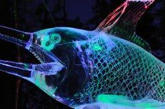 близкая скульптура момента льда хлебоуборки вверх Стоковые Фотографии RF
