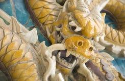 близкая статуя дракона вверх Стоковые Фотографии RF