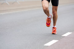 близкая съемка бегунка марафона Стоковое фото RF