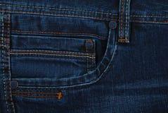 близкая текстура джинсыов вверх Стоковые Изображения RF