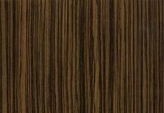 близкая текстура негра вверх по деревянному zebrano Стоковое Фото