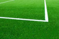 близкая часть футбола поля вверх Стоковые Фотографии RF