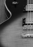 близкая электрическая гитара Стоковое Изображение