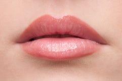 близкие губы составляют зону Стоковая Фотография RF