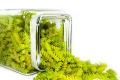 близкие зеленые макаронные изделия вверх Стоковое Изображение