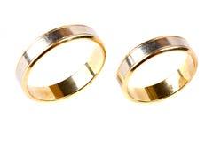 близкие кольца золота поднимают венчание Стоковое Изображение RF