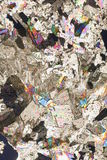 близкие кристаллы смешанные вверх стоковые фото