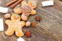 близкие люди gingerbread вверх Стоковая Фотография