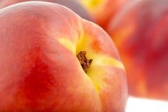 близкие персики вверх Стоковое Изображение RF