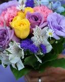 близкие цветки поднимают венчание Стоковое Изображение RF