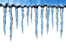 близкие icicles вверх стоковое изображение