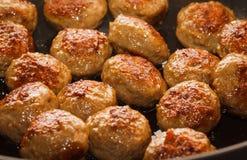 близкие meatballs вверх Стоковая Фотография RF