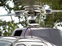 близкий вертолет двигателя вверх Стоковые Фотографии RF