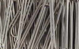 Близкий взгляд бумажных зажимов металла Стоковое Фото