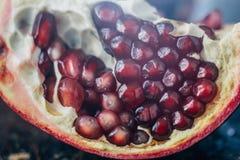 Близкий взгляд красных семян плодоовощ гранатового дерева Стоковые Фотографии RF