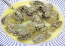 близкий взгляд stew устрицы Стоковые Фотографии RF