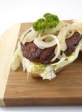 близкий гамбургер вверх Стоковое Изображение