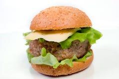 близкий гамбургер вверх Стоковое Изображение RF