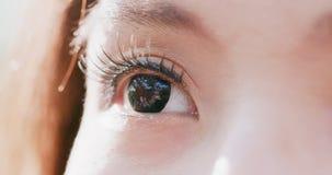 близкий глаз вверх по женщине Стоковое Фото