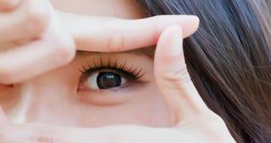 близкий глаз вверх по женщине Стоковое Изображение