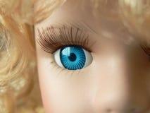 близкий глаз куклы вверх Стоковая Фотография
