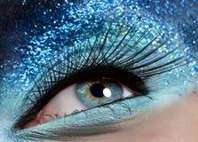 Близкий глаз макроса Стоковая Фотография RF