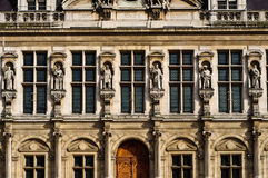 близкий городок paris залы вверх Стоковое Изображение RF