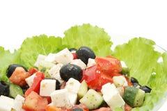 близкий греческий салат вверх Стоковые Изображения