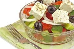 близкий греческий салат вверх Стоковое Фото