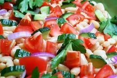 близкий здоровый салат вверх стоковые изображения rf