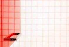 близкий красный цвет кухни мебели элемента вверх Стоковые Изображения RF