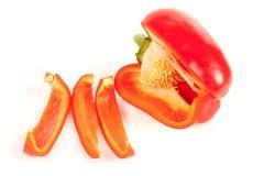 близкий красный цвет перца отрезанный вверх Стоковое фото RF
