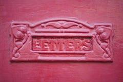 близкий красный цвет letterbox вверх Стоковая Фотография