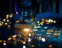 близкий лазер вырезывания вверх Стоковое Фото
