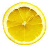 близкий лимон отрезает вверх Стоковая Фотография