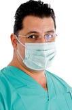 близкий лицевой щиток гермошлема eyeglasses доктора вверх стоковые изображения