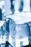 близкий льдед кубика вверх Стоковое Изображение