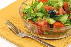 близкий македонский салат вверх Стоковая Фотография RF