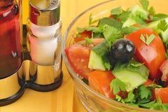 близкий македонский салат вверх Стоковое Изображение RF