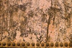 близкий металл заржавел бак вверх Стоковые Фото