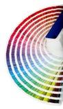 близкий направляющий выступ цвета вверх Стоковое фото RF
